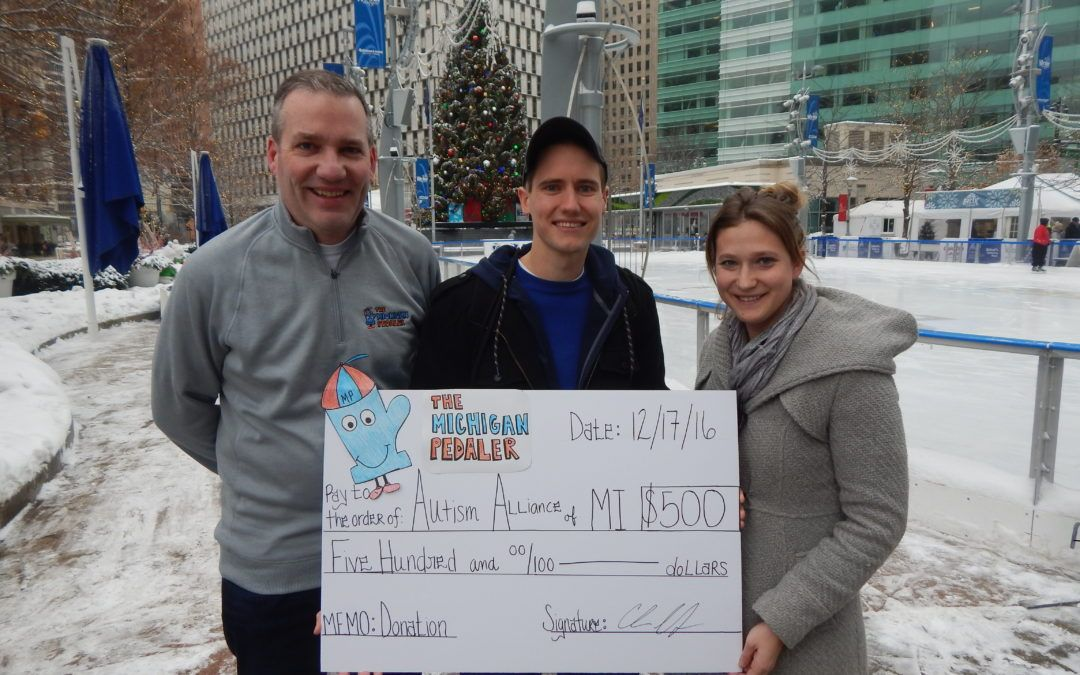 Michigan Pedaler Staff Gives Back to Autism Alliance of Michigan