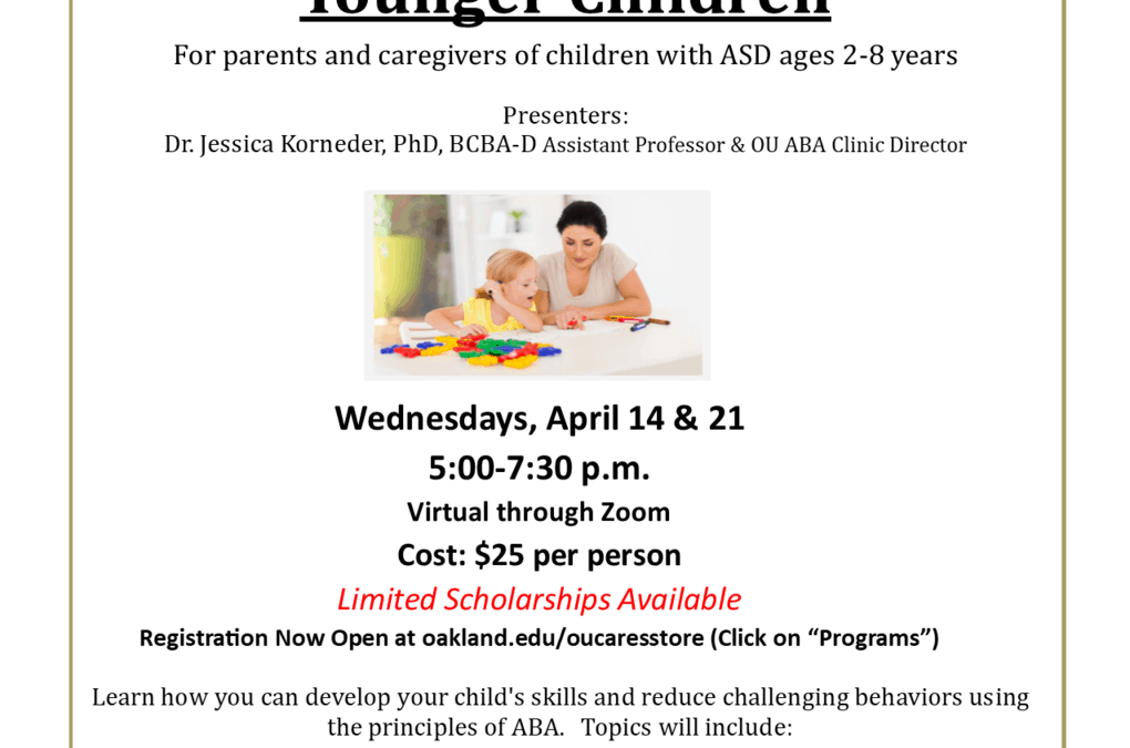 ABA Training for Parents of Younger Children