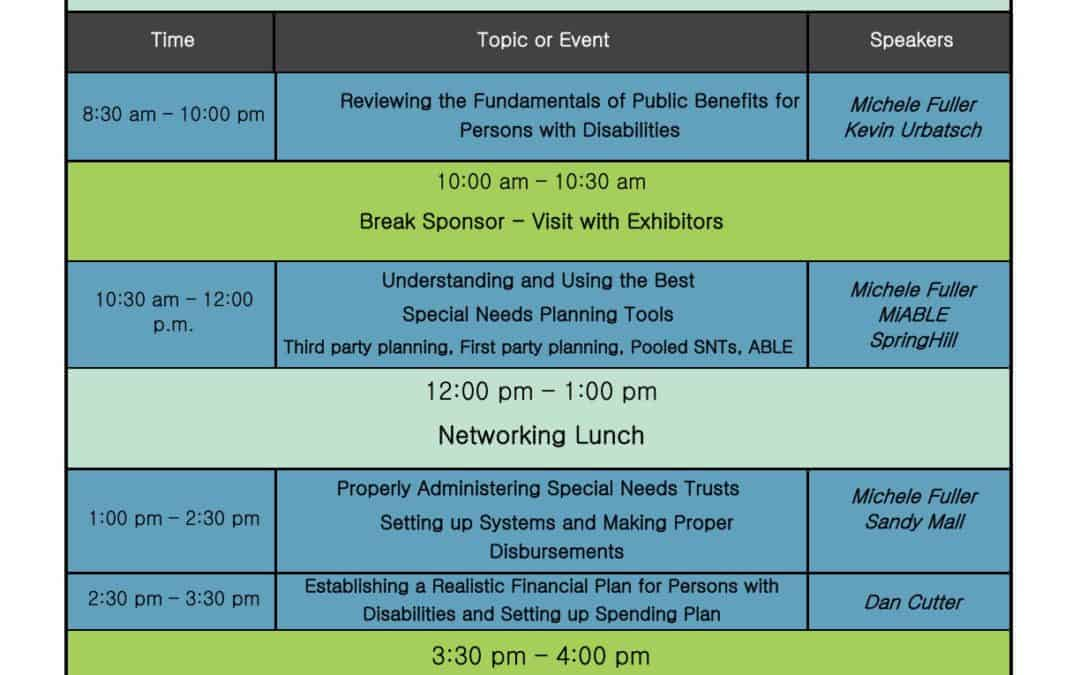 The Great Lakes Special Needs Planning Symposium