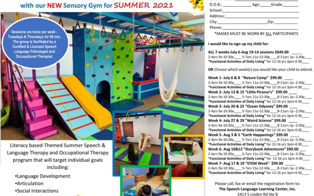 The Speech Language Learning Center Summer Say & Play 2021