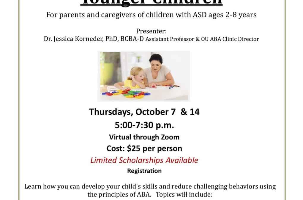 Everyday ABA for Parents of Younger Children ages 2-8yrs